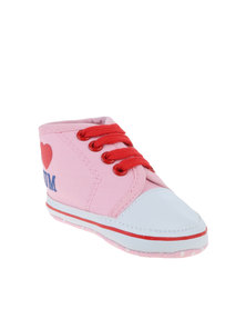 Funky Monkey Baby Shoes Pink