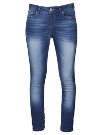 G Couture Straight Leg Jeans Blue
