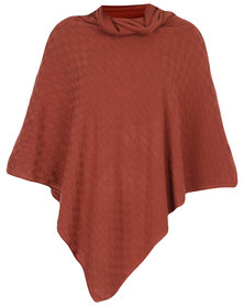 G Couture Poncho Rust