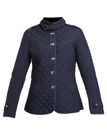 G Couture Exclusive Quilted Jacket Navy