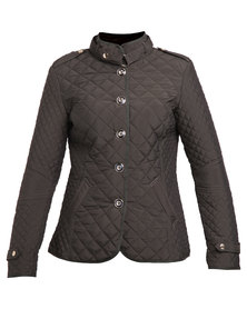 G Couture Quilted Jacket Olive