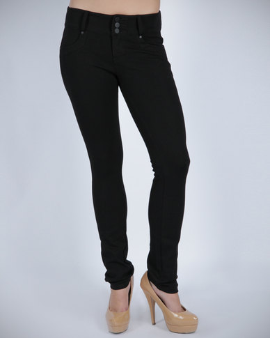 G Couture Ponty Pants Black