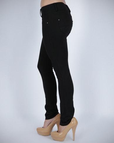 G Couture Ponty Pants Black