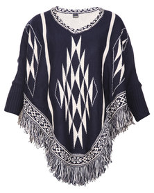 G Couture Poncho Arrow Navy