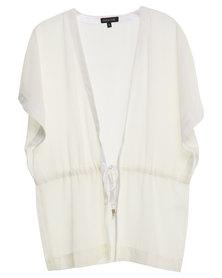 G Couture Kimono with Waist Tie White