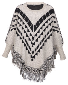 G Couture Exclusive Poncho Cream