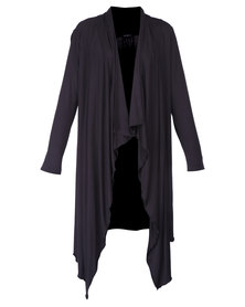 G Couture Waterfall Cardigan Black