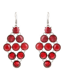 G Couture Dangle Earrings Red