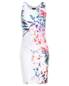 G Couture Floral Print Shift Dress Multi
