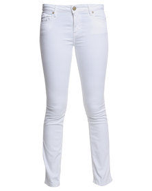 G Couture Straight Leg Jeans White