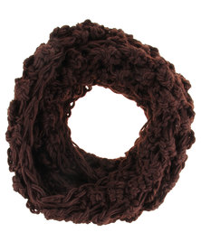 G Couture Lofty Knit Snood Chocolate