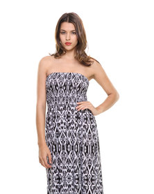 G Couture Bandeau Maxi Dress Black