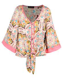 G Couture Japanese Top Multi
