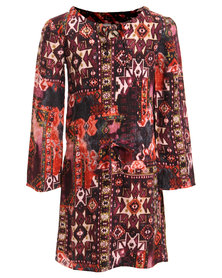 Game of Threads Bohemian Printed Dress Multi