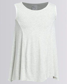 Game Of Threads Inverted Pleat Top Grey Melange