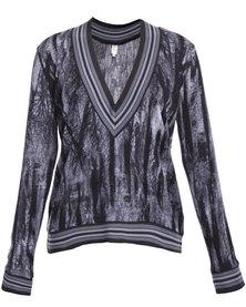 Game of Threads Tamarind Knit V-Neck Jersey Black/Grey
