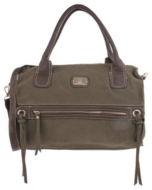 Gemini Tasselled Tote Bag Brown