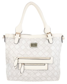 Gemini Soft Check Bag White