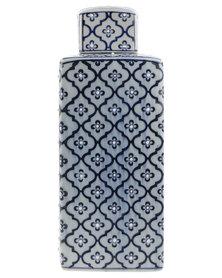 Gift Warehouse Porcelain Tea Caddy Blue