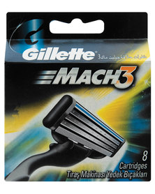 Gillette Mach 3 Cartridges 8's