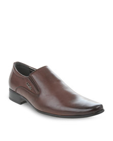 Gino Paoli Elasticated Slip-on Brown