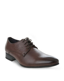 Gino Paoli Perforated Lace-ups Brown