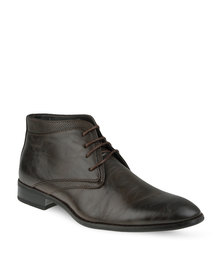 Gino Paoli Lace-Up Ankle Boot Brown
