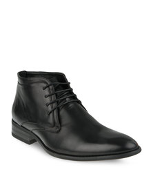 Gino Paoli Lace-Up Ankle Boot Black