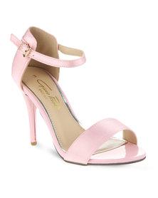Gino Paoli Satin Sling-Back Sandal Pink