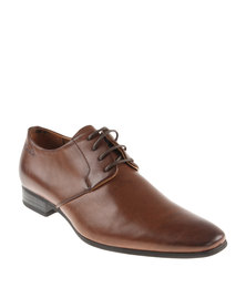 Gino Paoli Creased Calf  Lace Up Shoe Brown