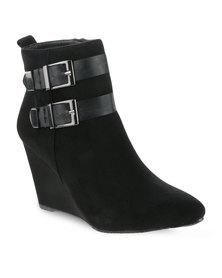 Gino Paoli Wedge Heel Boots Black