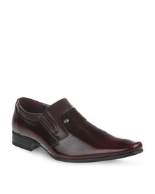Gino Paoli Patent Dress Shoes Burgundy