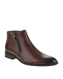 Gino Paoli Formal Slip On Boot Brown