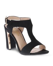 Gino Paoli T-Bar Heels Black
