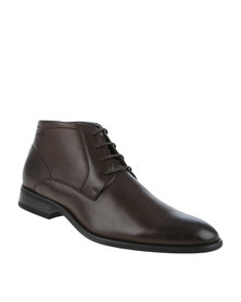 Gino Paoli Formal Lace Up Boot Brown
