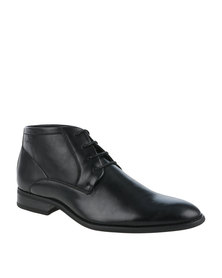 Gino Paoli Formal Lace Up Boot Black
