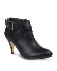 Gino Paoli Belted Ankle Boot Black