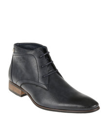 Gino Paoli Denim Formal Lace Up Boot Navy