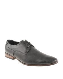 Gino Paoli Denim Distress Lace Up Shoe Black