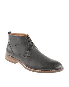 Gino Paoli Denim Counter Design Lace Up Boot Black