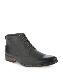 Gino Paoli Casual Lace Up Boots Dark Grey