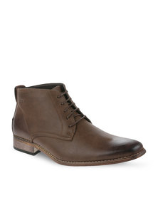 Gino Paoli Casual Lace Up Boots Tan