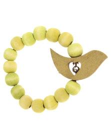 Glamour Bird Bracelet Lime Green