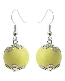Glamour Bead Earrings Green
