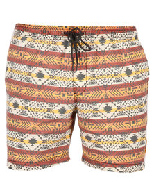 Globe Dion Cheat Life Boardshorts Burnt Orange