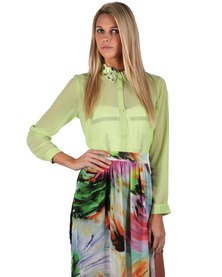 Goldie Colette Blouse Lime Green