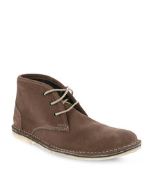 Grasshoppers Freeport Leather Boots Brown