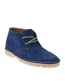 Grasshoppers Gina Suede Casual Lace Up Ankle Boot Ocean