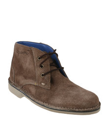 Grasshoppers Kyle Suede Casual Lace Up Ankle Boot Coffee