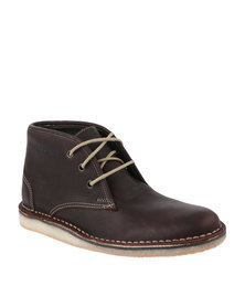 Grasshoppers Drifter Leather Boot Chocolate Brown